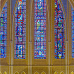 Les fenêtres du haut-chœur après restauration. © Photo Arnaud Hébert / La Nuée Bleue