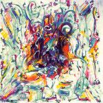 Espansione magmatica, tecnica mista, cm 80x80, 1997