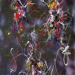 Artefice, smalto su tela, cm 50x70, 1994