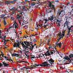 Pathos, smalto su tela, cm 70x100, 1980