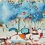 Spiritual Love, tecnica mista su tela, cm 70x100, 2006, collezione privata