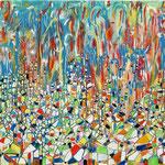 Rio, tecnica mista su tela, cm 80x120, 2005, collezione privata