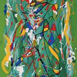 Congruenze n.1, smalto e acrilico su tela, cm 50x70, 1991