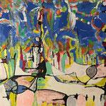Segnali musicali, tecnica mista su tela, cm 50x100, 2015