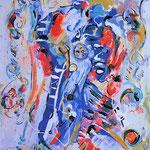 Per una sinfonia, smalto su tela, cm 50x70, 1995