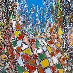 Dal colore alla luce, tecnica mista su tela, cm 70x100, 2012