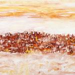 Paesaggio sognato, tecnica mista su tela, cm 50x100, 2009