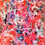 Contaminazione, olio su tela, cm 70x100, 2001, collezione privata