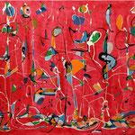 Fase emotiva della mente, tecnica mista su tela, cm 70x100, 2008,  collezione privata