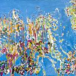 Profondità inesplorate, tecnica mista su tela, cm 100x150, 2012