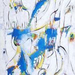 Arabesco, tecnica mista su tela, cm 50x70, 2009