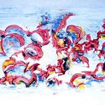 Vortice, tecnica mista, cm 100x150, 1993, collezione privata