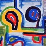 Composizione n.3, acrilico su tela, cm 70x50, 1990
