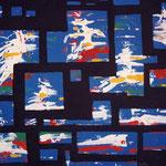 Lacune cromatiche, smalto e acrilico su tela, cm 70x50, 1990