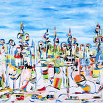 Le idee hanno una tendenza, tecnica mista su tela, cm 70x100, 2011