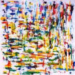 Cromatismo interiore, tecnica mista, cm 100x100, 1997