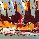 Espansione, smalto su tela, cm 50x70, 1989