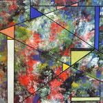Scomposizione cosmica, tecnica mista, cm 50x70, 1992