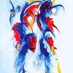 Sacro e profano, tecnica mista, cm 70x100, 1995, collezione privata