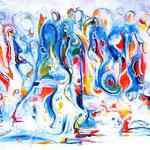 Locus amoenus, tecnica mista, cm 70x100, 1997