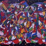 Carnival, tecnica mista su tela, cm 50x70, 1985