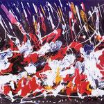 La testarda emozione, tecnica mista, cm 70x100, 1989