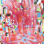 Segnali gioiosi, tecnica mista su tela, cm 40x50, 2012
