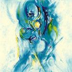 Fertilità eterea, tecnica mista, cm 50x70, 1996, collezione privata
