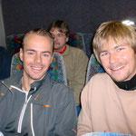 Im Bus zum Start