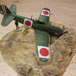 KI-84 crashé (décor)