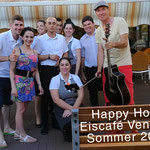 Happy Hour im Eiscafé Venezia im Juli 2018, Foto: Christa Schneider
