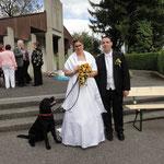Balou als Brautführer, das Kleid blieb sauber!