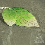 Kette Blätter aus Acrylfolie grün