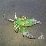 Ohrringe Elfenflügel aus Acrylfolie hellgrün