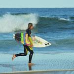 Am Sonntag hieß es aufgrund starker Strömung Surf & Run