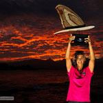 Weltmeisterin Iballa Ruano Moreno mit ihrer Trophäe.