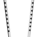 Skaleneinteilung für eine einfache Positionierung der Trapeztampen