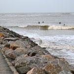 Nørre Vorupør - die südliche große Mole schafft einen cleanen Break