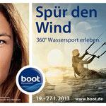 Sabrina´s Gesicht für die boot 2013 Kampagne