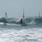 Wellen haben es Lina angetan