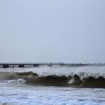 Blick durch die Bucht von Vorupør