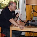 OVV Wolfhard, DO5WE, an der CLubstation