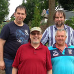 Die Crew: Torsten DL2ZBR, Wolfhard DO5WE, Norbert DF2ZR und Uwe DK3UB