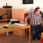 Dietmar, DL1ZAX, beim Vortrag