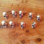 Skull Pirat gross silberfarben