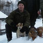 Reini mit Jacky, die beide Füchse sprengen konnte!