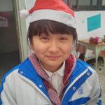 Tina mit Weihnachtsmütze - so süüüüßß!