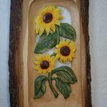 Sonnenblume koloriert