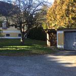Garage - Gartenfläche