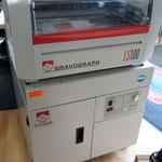 Lasergravur und Stempel